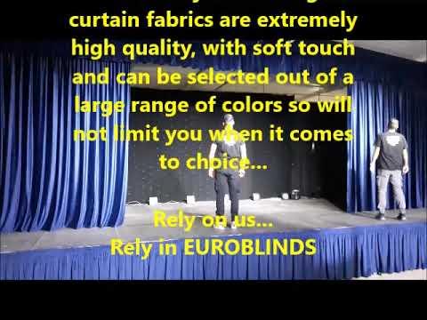 EUROBLINDS motorized velvet stage curtains