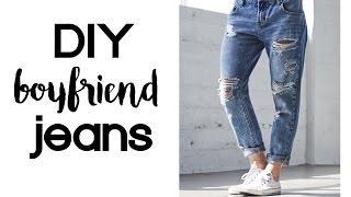 DIY Boyfriend Jeans | Thrift Flip Under $10