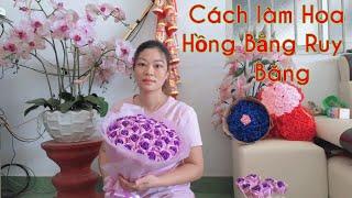 Cách Làm Bó Hoa Bằng Ruy Băng 🎀 Siêu to, siêu đẹp