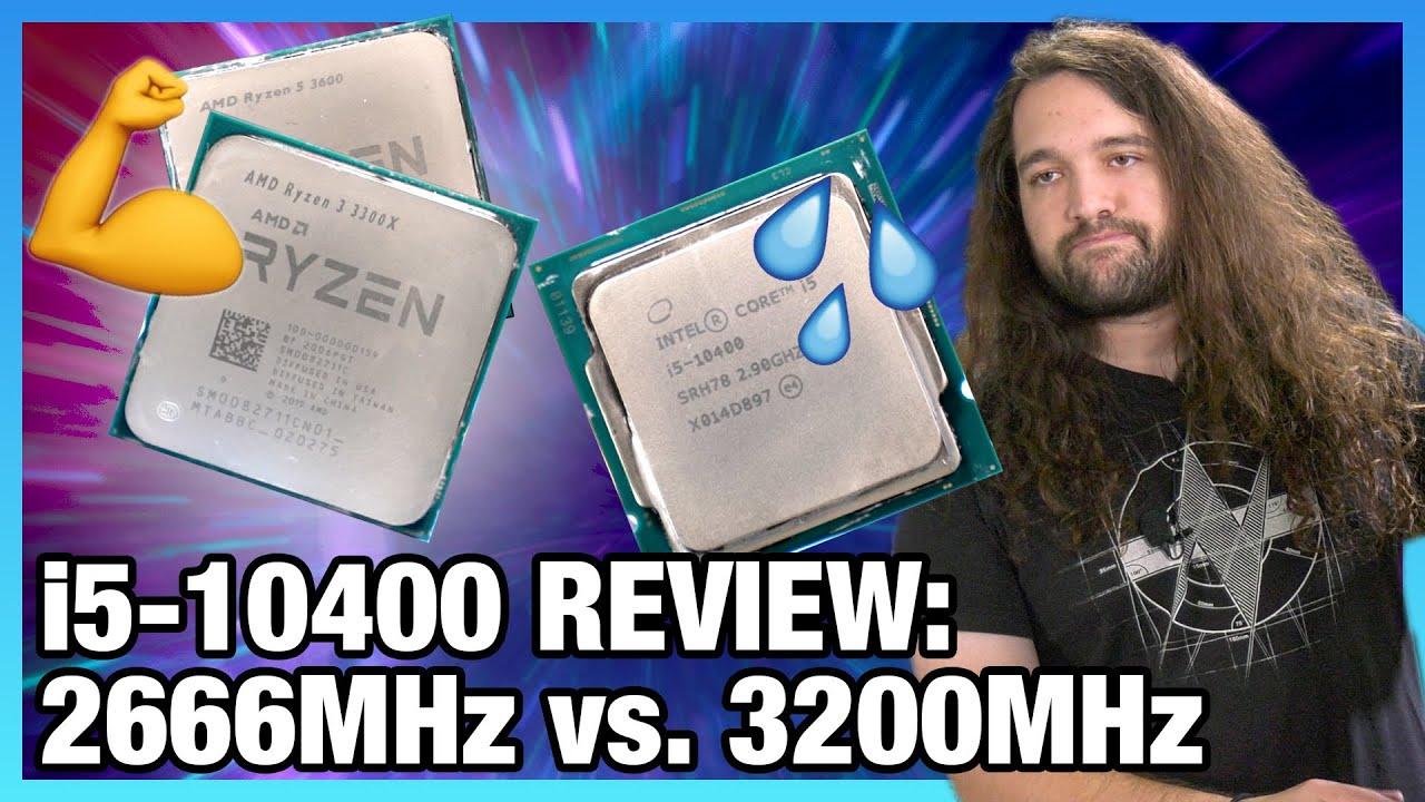 Do Not Buy: Intel i5-10400 CPU Review & Benchmarks vs. 3300X, 3600, 10600K (ft. 2666 & 3200 RAM) - Gamers Nexus