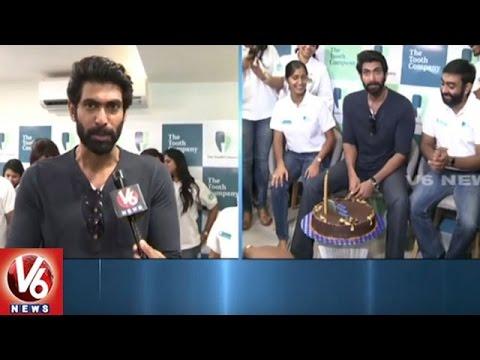 Rana Daggubati Celebrates His Birthday After Launching Of Dental Care Center | Hyderabad | V6 News