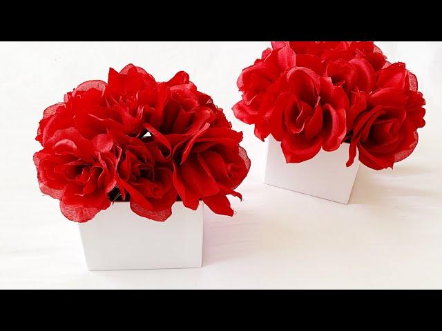 DIY Valentine Rose Box Using Dollar Tree Roses???? || Valentine DIY || Chic Rose Box Arrangement ???
