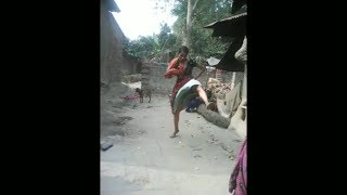 Dancing fight between two village women | Village funny video