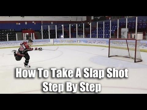 How To Take A Slap Shot In Hockey Video Tutorial On Ice - Hockeytutorial.com