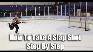 How To Take A Slap Shot In Hockey Video Tutorial On Ice - Hockeytutorial.com