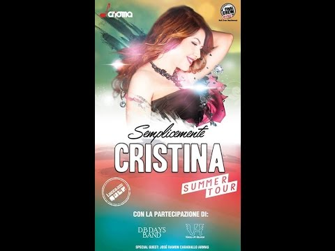SEMPLICEMENTE.... CRISTINA D'AVENA SUMMER TOUR  LIVE ETNA COMICS 2016 (PART 1)