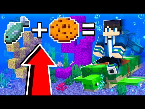 How to RIDE TURTLES in Minecraft TUTORIAL! (Pocket Edition, Xbox, PC) thumbnail