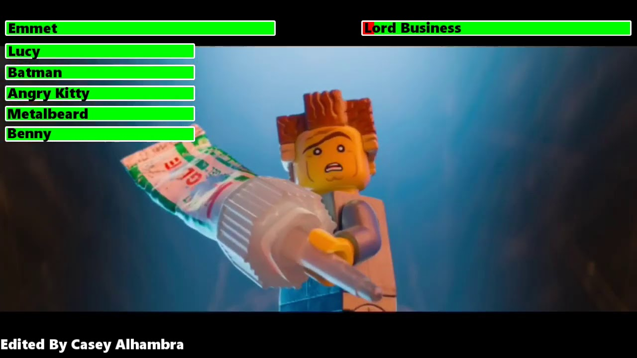 Download The Lego Movie (2014) Final Battle with healthbars