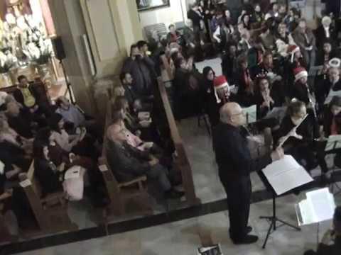Villancico Campanas de Navidad. Associació Musical El Tossal, Coro Lillo Juan y Público asistente
