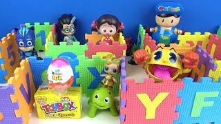 Pepee Niloya Pijamaskeliler Kinder sürpriz yumurta Toybox ödüllü renkli harfli sayılı Labirent Oyunu
