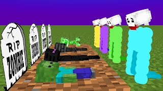 Monster School : RIP ALL Monsters (Sad story) - Minecraft Animation