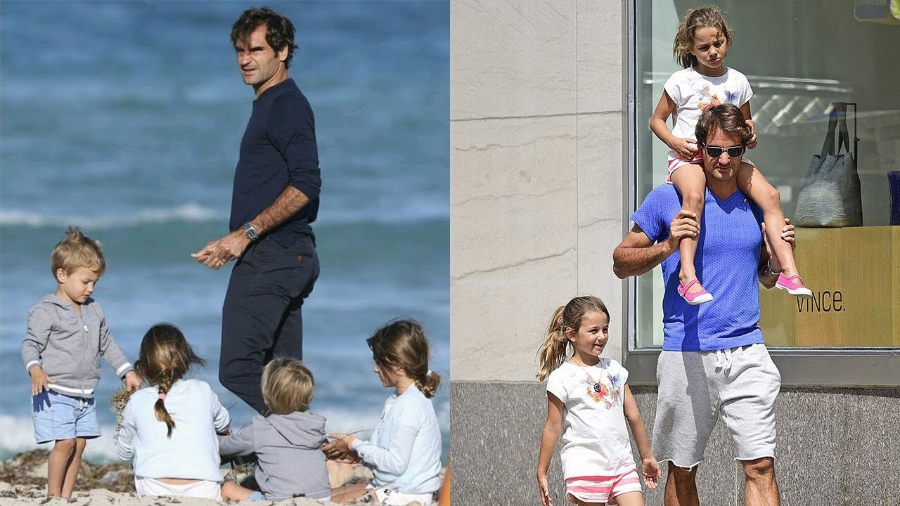 Image result for federer with his kids