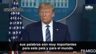 Última noticia De  EU. Donal Trump decide usar dióxido de cloro..
