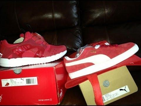 Puma Suede Red On Feet