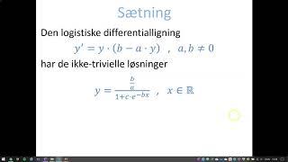Differentialligninger - Bevis: Type y' = y·(b - a·y) [Logistisk differentialligning Version 2]