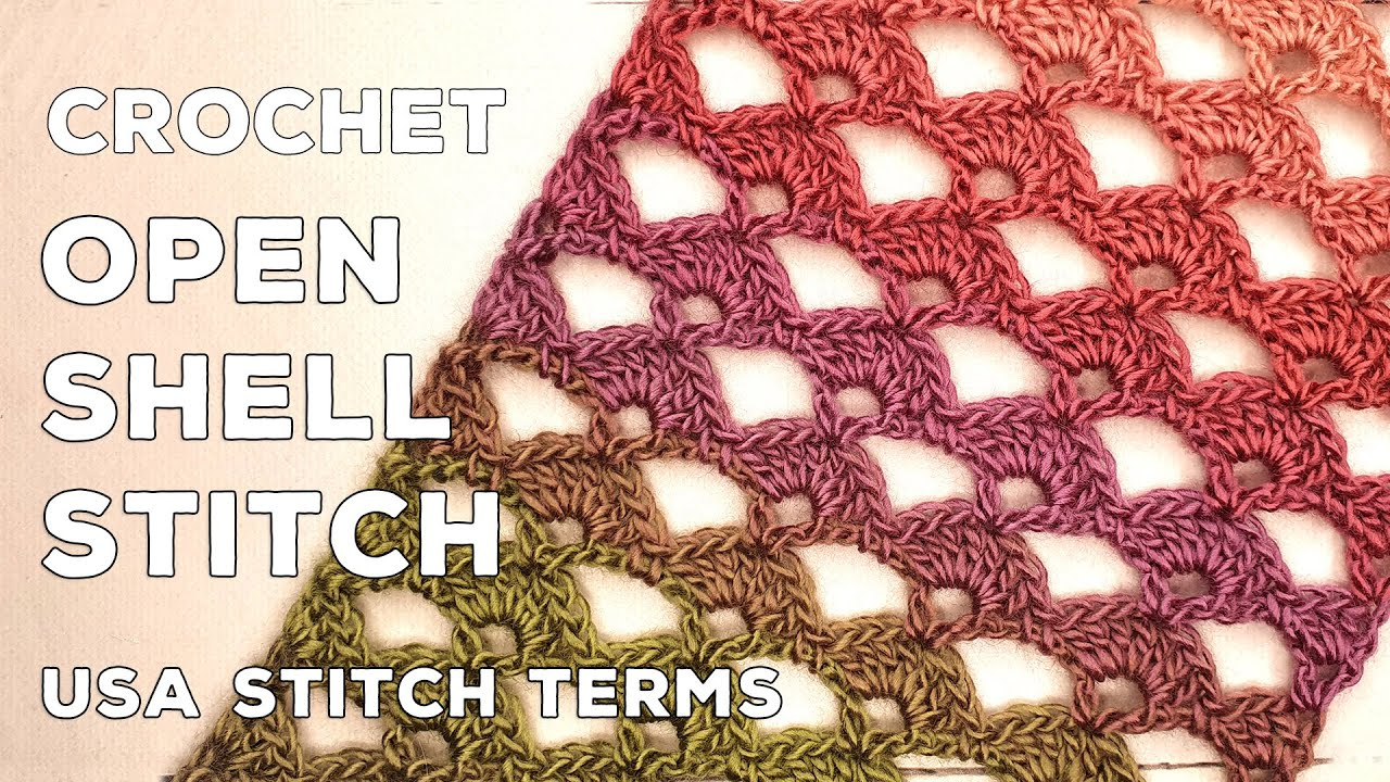 Crochet Open Shell Stitch (Great for lacy scarves!)
