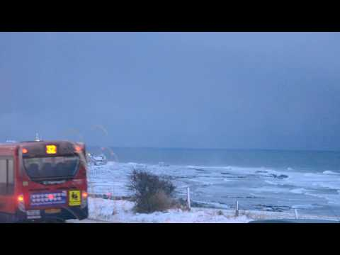 RELAXING SNOWY TIMES IN BURGHEAD, MORAY SCOTLAND