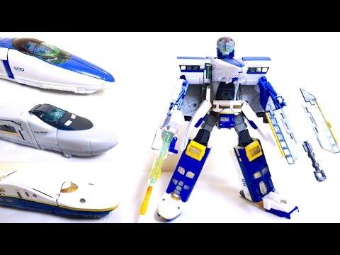 【トランスフォーマー】カーロボット 3体合体公安官 JRX ヲタファのじっくり変形レビュー  Transformers JRX / Rail Racer Wotafa's Review