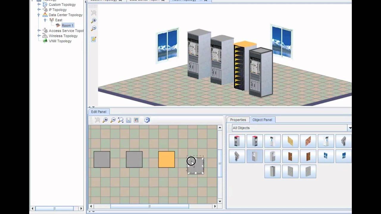 Hp On Floor Plan Hp Imc Data Center Topology Youtube