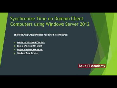 How To Synchronize Time On Domain Client Computers Using Windows Server 2012
