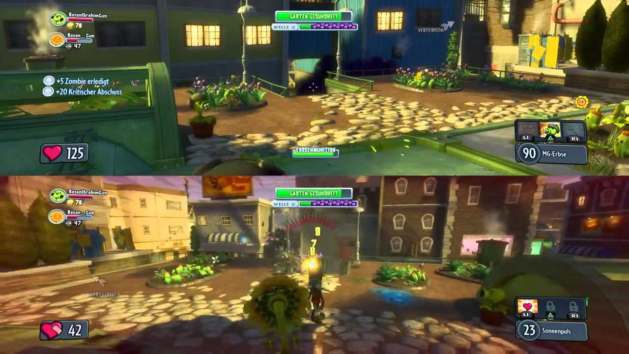 Let 39 S Play Hd Plants Vs Zombies Garden Warfare Splitscreen 2 Ps4 Youtube