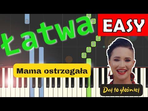 🎹 Mama ostrzegała (Daj To Głośniej) - Piano Tutorial (łatwa wersja) 🎹