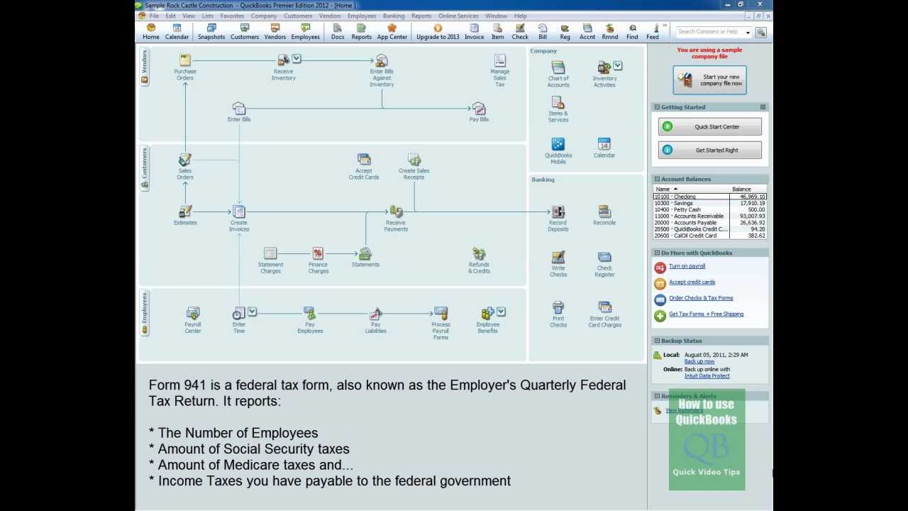 Create irs tax form 941 in quickbooks youtube create irs tax form 941 in quickbooks falaconquin