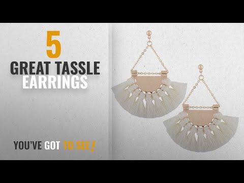 10 Best Tassle Earrings [2018]: Solememo Classic 12 Colors Rope Tassel Earrings for Girls Bohemian