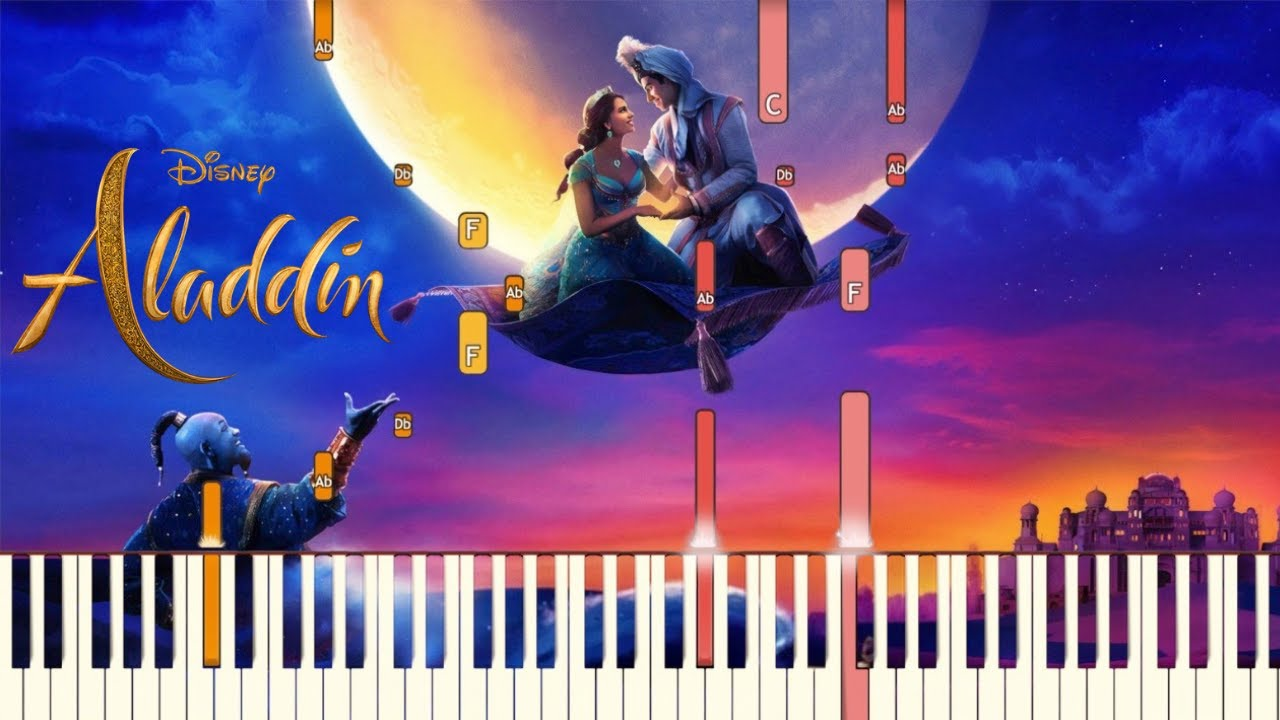Desert Moon – Mena Massoud, Naomi Scott – Aladdin | Piano Tutorial (Synthesia)