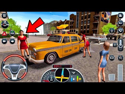 Taxi Sim 2016 #24 - CRAZY DRIVER! Taxi Game Android IOS gameplay