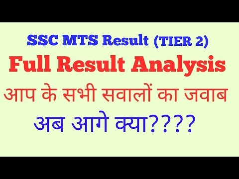 Ssc mts Result Analysis  (TIER 2)