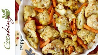 Запеченная цветная капуста - очень вкусно, просто, полезно;) / ПП рецепт
