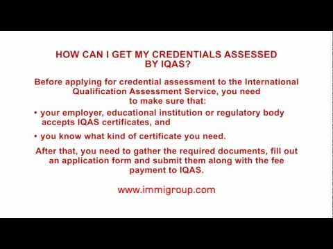 How can I get my credentials assessed by IQAS? - YouTube