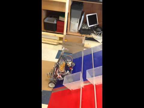 Fredericksburg Academy Robotics robot climbing!