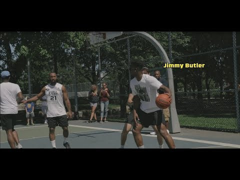 Jimmy Butler showed up at 1on5 Worldwide, Full court 21 Tournament in Montreal!