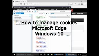 How to manage cookies in Microsoft Edge Windows 10