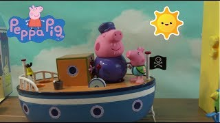 Peppa Pig Countdown to Vacation Surprise Toys: Peppa Pig Beach and Boat and Peppa Pig Castle
