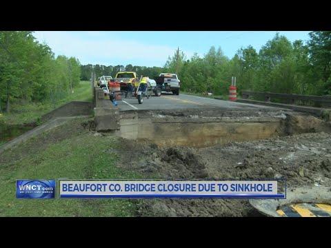 N.C. DOT: Beaver dam blockage causes bridge on N.C. 33 to close