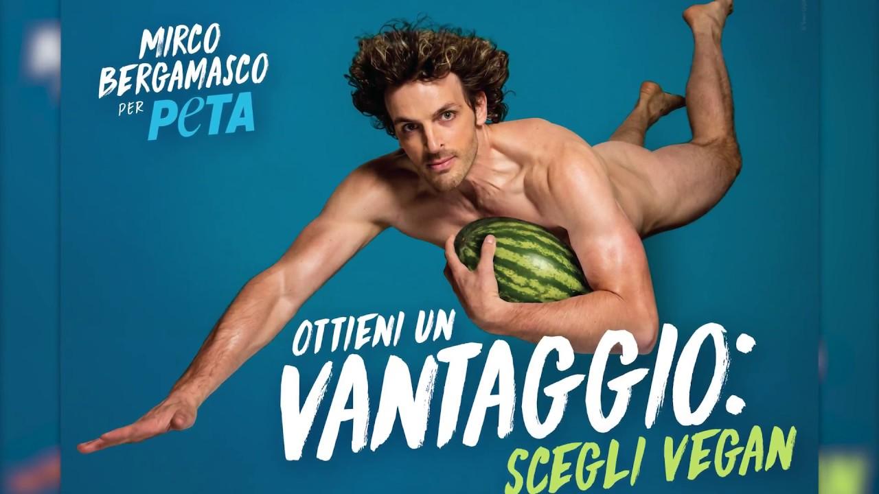 Naked Mirco Bergamasco Takes Flight in Racy New PETA Ad - YouTube
