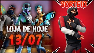 Today's Fortnite shop 13/07 NEW SKINS + it is TODAY RAFFLE IKONIK!