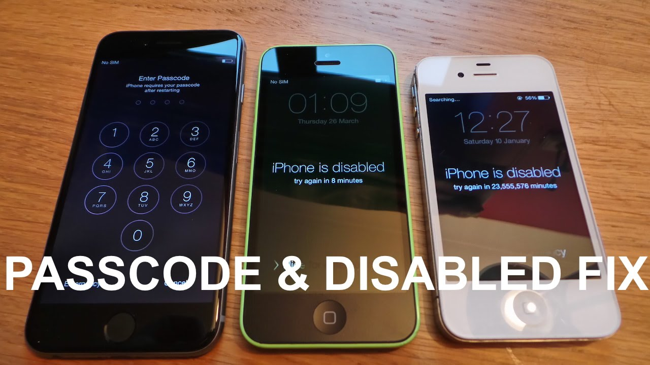 forgot passcode to iphone how to remove reset any disabled or password locked 14135