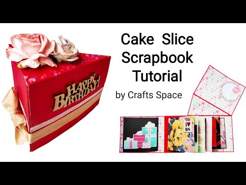 Cake Scrapbook Tutorial | Paper Cake Tutorial | Cake Card | By Crafts Space