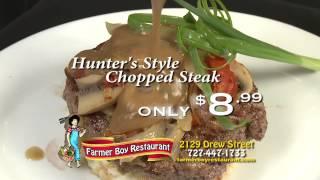 Farmerboy Restaurant, Clearwater, Fl-hunter's Style Chopped Steak Or Mahi Mahi Creole