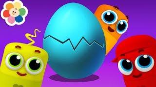 Canta con Huevo Sorpresa | Los Colores en Español | Canciones Infantiles en Español | BabyFIrst 3D