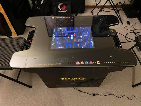 Arcade1up Black Series Pac-Man Cocktail Cabinet Unboxing, Assembly, Review