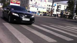 Кортеж Медведева и Городецкого в Новосибирске 21.07.15