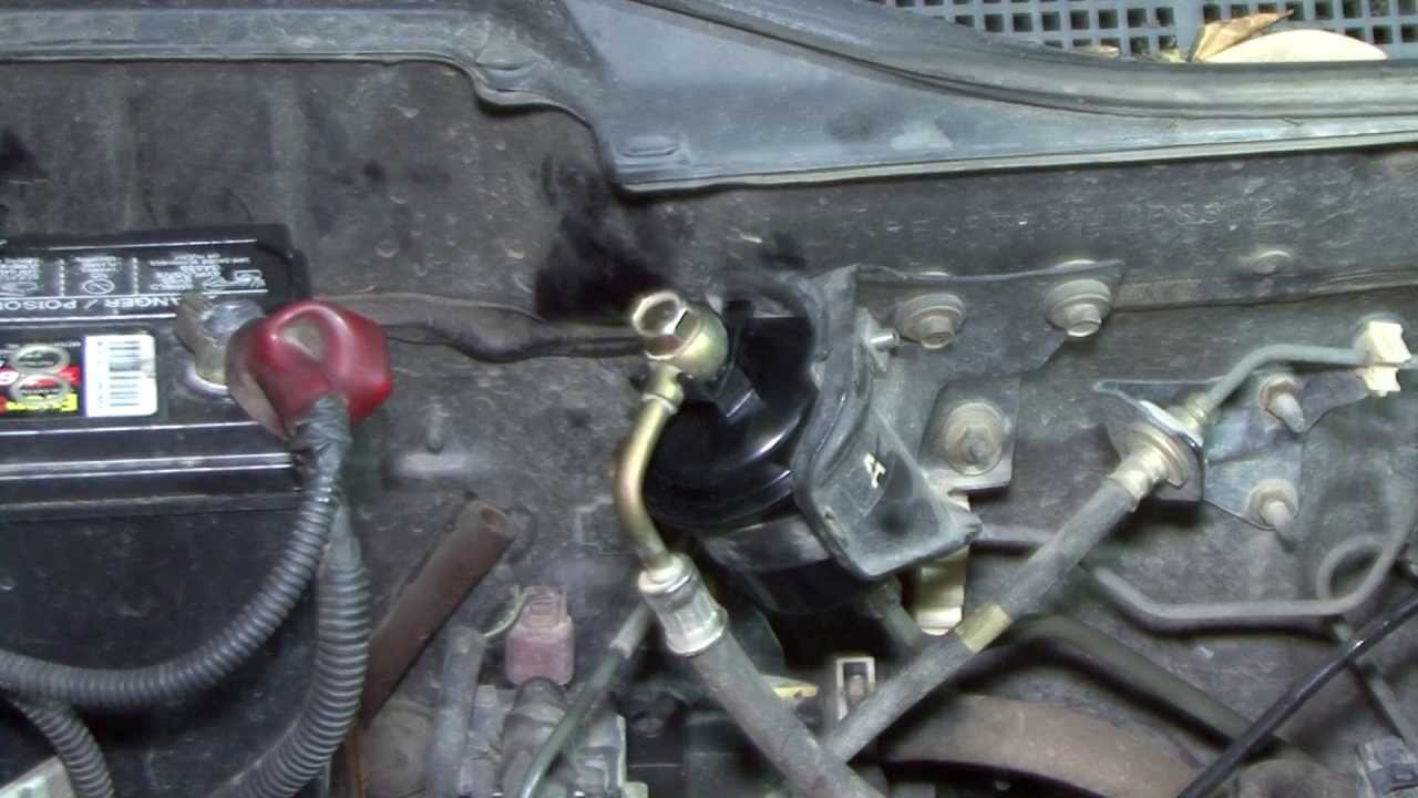 How to change your 95 00 Civic fuel filter YouTube