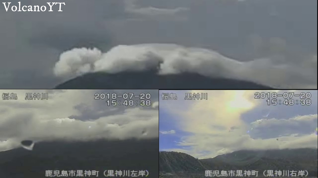 20/7/2018 - Mt Sakurajima 桜島 TimeLapse