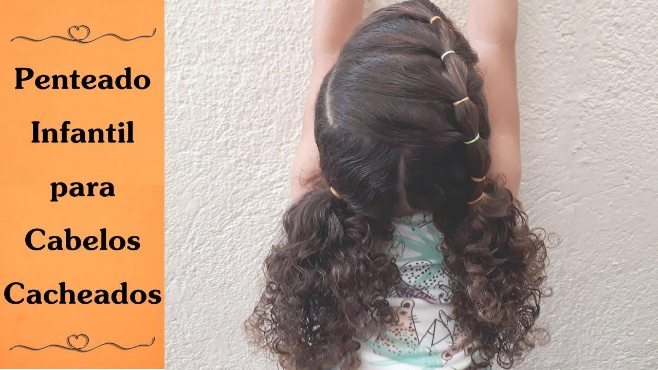 Penteado Fácil Para Escola Penteado Infantil Para Cabelos Cacheados