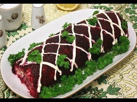 Как сделать рулет из салата селёдка под шубой